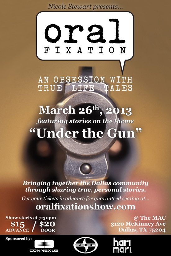 "Flyer for ""Under the Gun"""