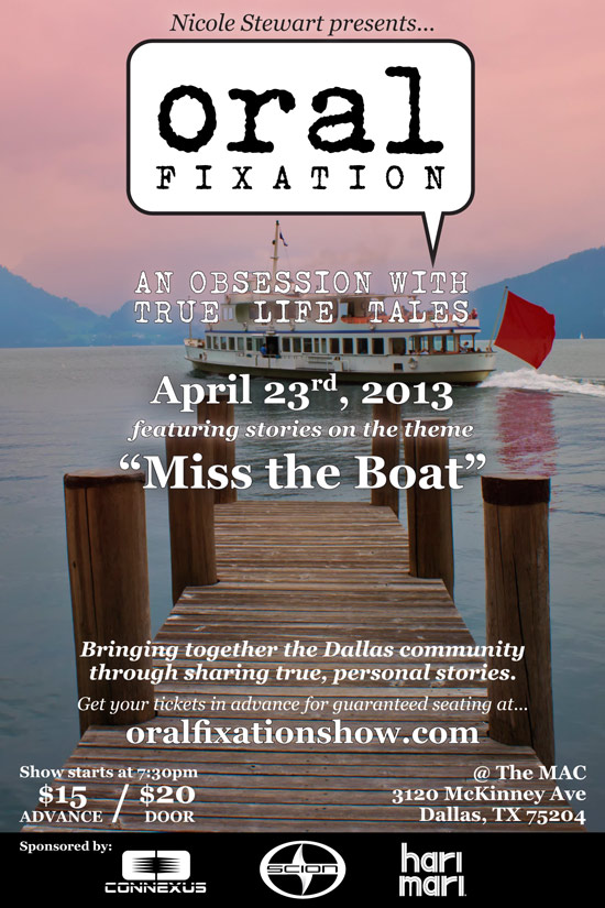 "Oral Fixation ""Miss the Boat"" Flyer"